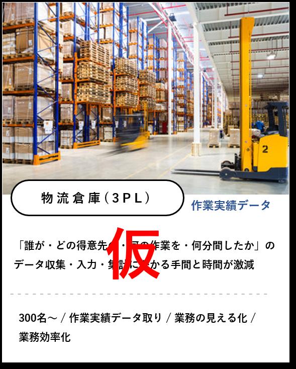 3PL物流倉庫での作業実績データ取り